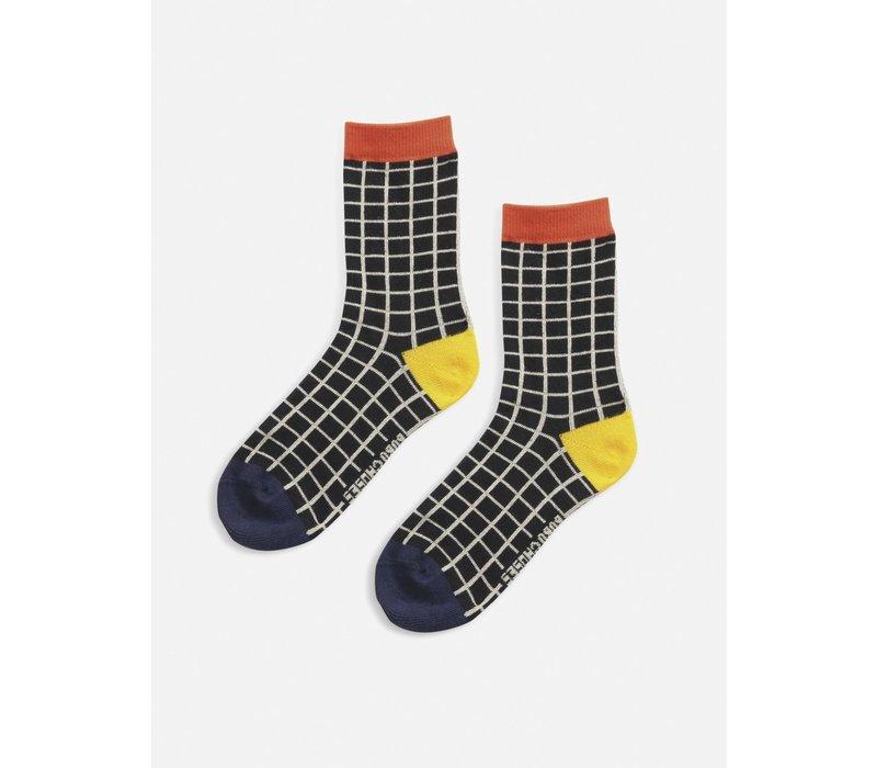 Bobo Choses Black Checkered short socks
