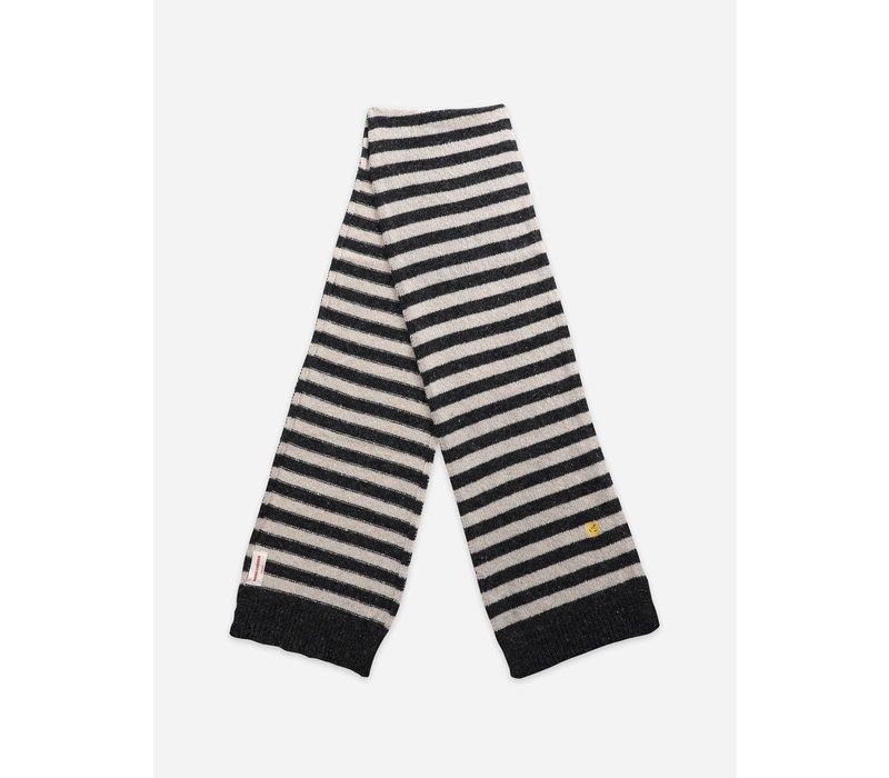 Bobo Choses Wool-mix Striped Knit Scarf Women