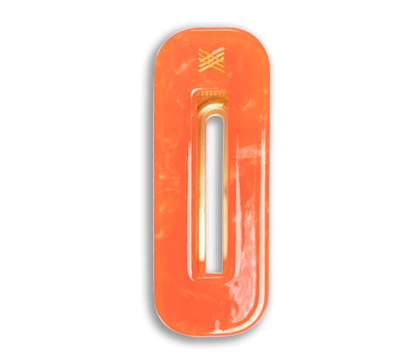 Repose AMS 56. hair clip squared, spicy orange