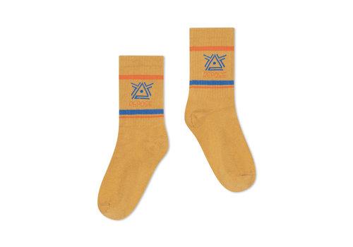 Repose AMS Repose AMS 50. Sporty Socks, caramel logo