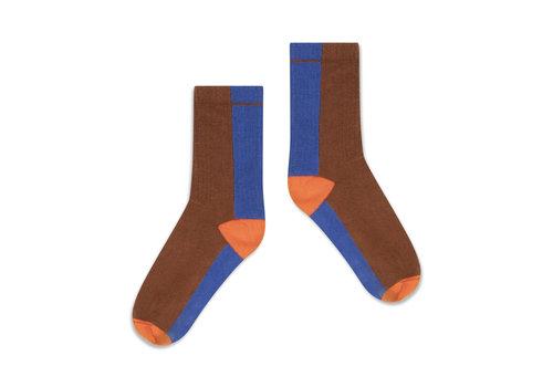 Repose AMS Repose AMS 50. Sporty Socks, chocolate color block