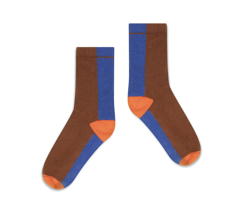 Repose AMS 50. Sporty Socks, chocolate color block