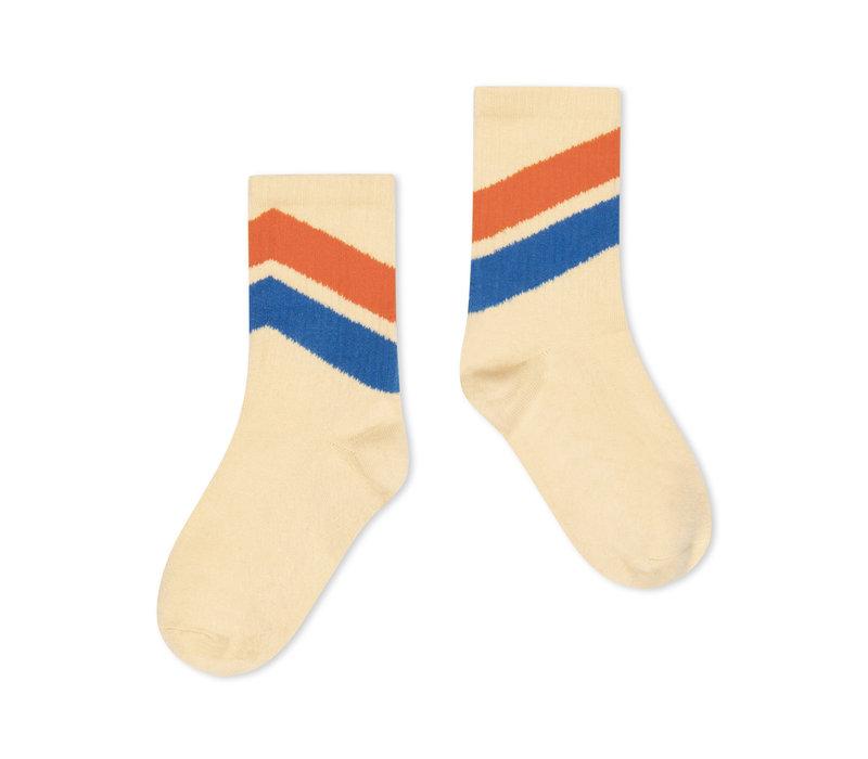 Repose ams 50. Sporty Socks, almond diagonal