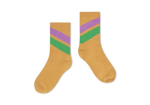 Repose AMS Repose AMS 50. sporty socks, caramel diagonal