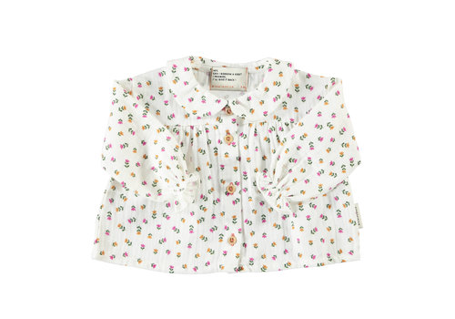 PIUPIUCHICK Piupiuchick collar blouse little flowers
