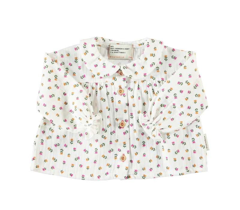 Piupiuchick collar blouse little flowers