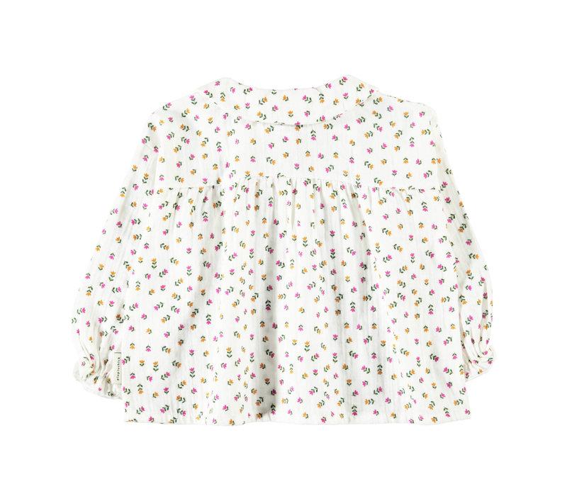 Piupiuchick Peter Pan Collar Blouse Little Flowers