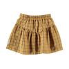 PIUPIUCHICK Piupiuchick Short Skirt v shape Camel Checkered