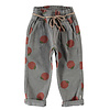 PIUPIUCHICK Piupiuchick Trousers with belt Grey with Peaches AOP