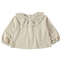 Piupiuchick Round Collar Blouse Ecru textured jersey