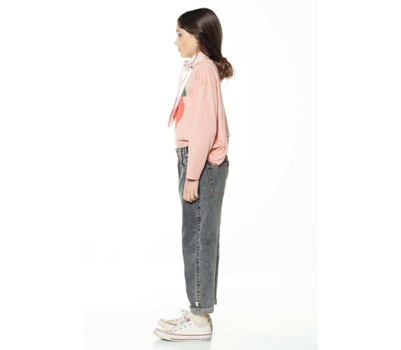 Piupiuchick Longsleeve t'shirt light pink with print