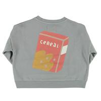 Piupiuchick Unisex sweatshirt Grey with Cereal box