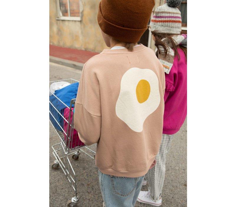 Piupiuchick Unisex sweatshirt Light Brown with The Breakfast Club Print