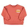 PIUPIUCHICK Piupiuchick Unisex sweatshirt Brick with Hot Dog Print