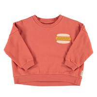 Piupiuchick Unisex sweatshirt Brick with Hot Dog Print