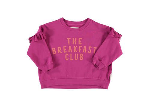 PIUPIUCHICK Piupiuchick Sweatshirt whit Frilla Fuchsia