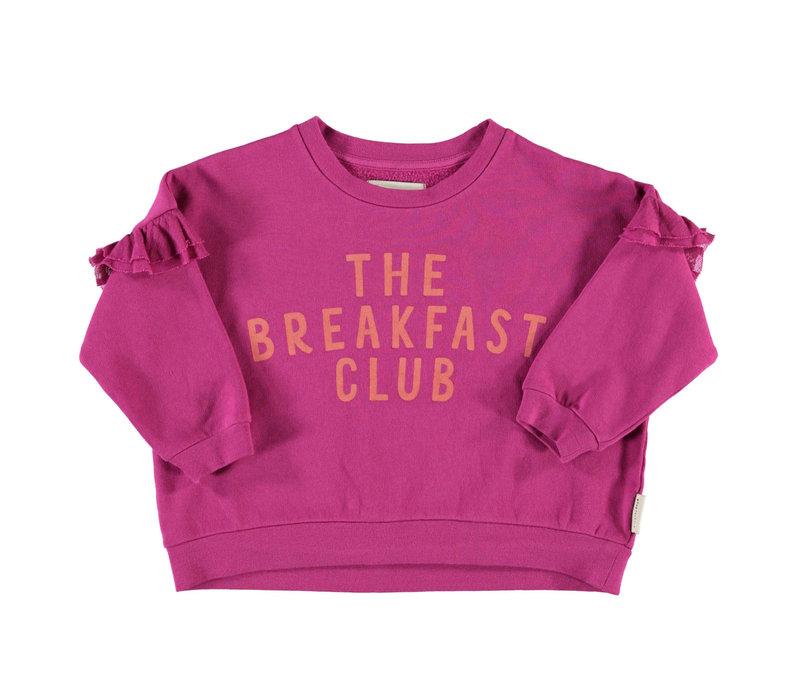 Piupiuchick Sweatshirt whit Frilla Fuchsia