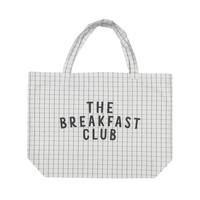 Piupiuchick Extra Large Bag Checkered Light Grey w. Peach Print