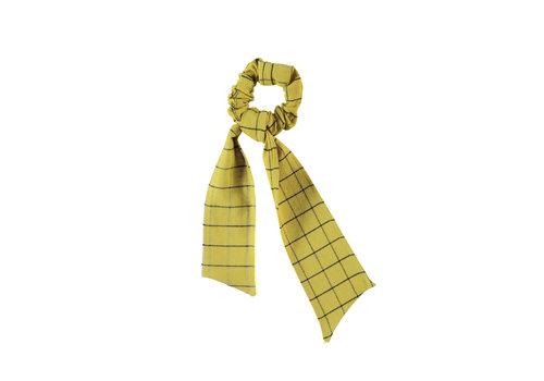 PIUPIUCHICK Piupiuchick Elastic Hair band Checkered Toasted Yellow