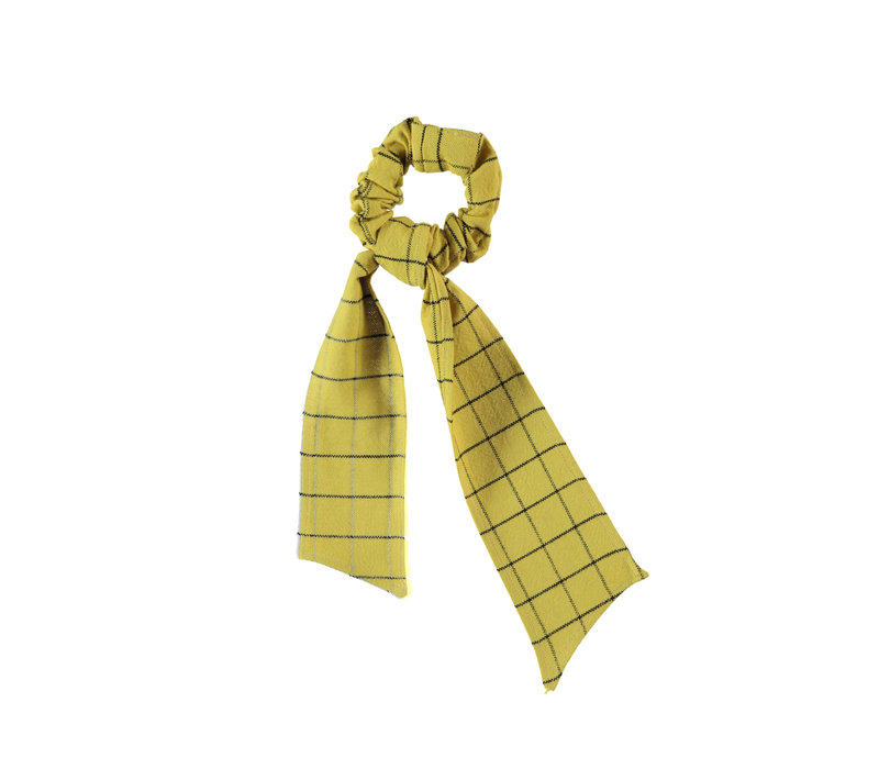 Piupiuchick Elastic Hair band Checkered Toasted Yellow