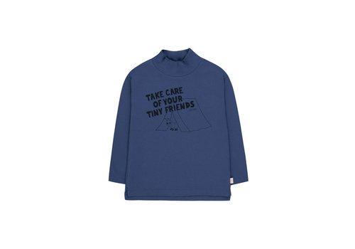 TINYCOTTONS TINYCOTTONS TAKE CARE MOCKNECK TEE