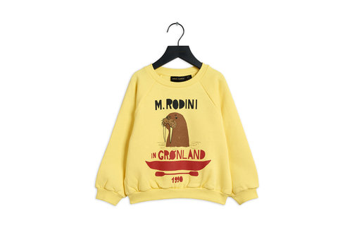 Mini Rodini Mini Rodini Walrus Sweatshirt Yellow