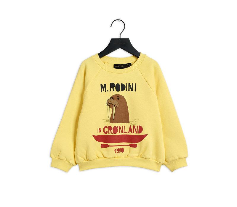 Mini Rodini Walrus Sweatshirt Yellow
