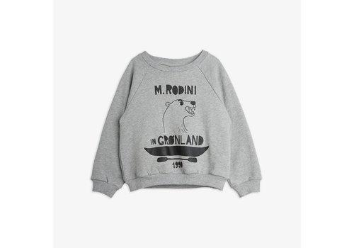 Mini Rodini Mini Rodini Polar Bear Sweatshirt Grey Melange