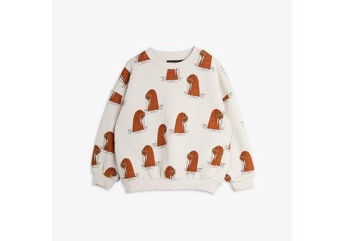 Mini Rodini Mini Rodini Walrus AOP Sweatshirt Grey
