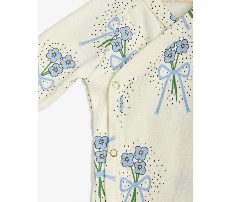 Mini Rodini Winterflowers Aop Wrap Body