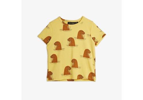 Mini Rodini Mini Rodini Walrus AOP Tee Yellow