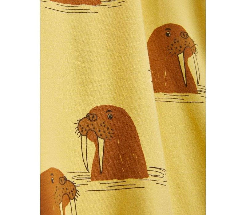 Mini Rodini Walrus AOP Tee Yellow