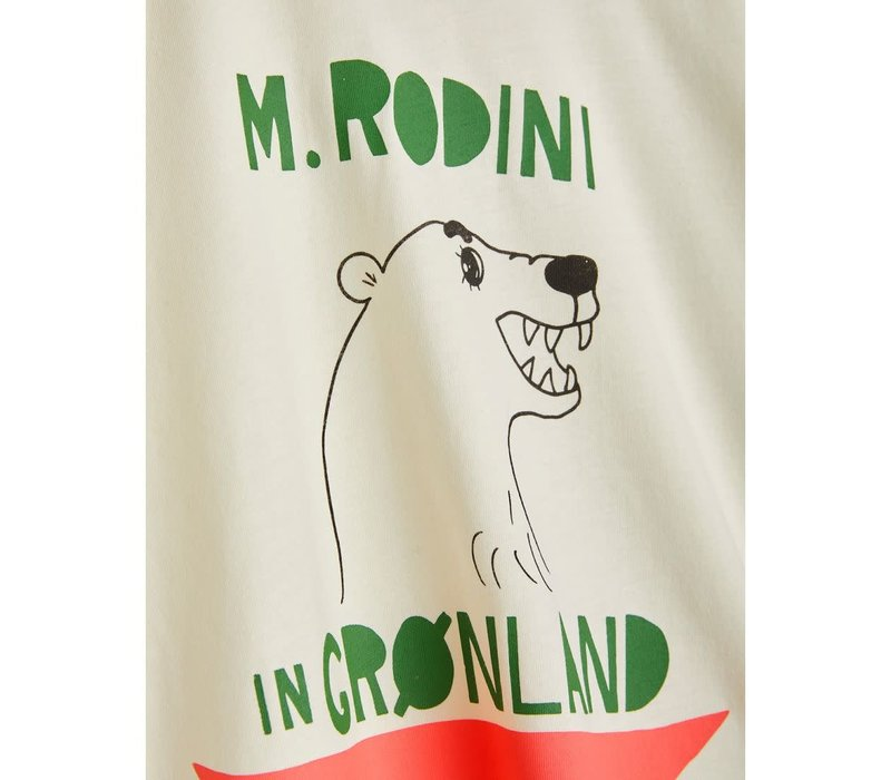Mini Rodini Polar Bear Tee Off White