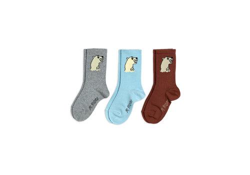 Mini Rodini Mini Rodini Polar Bear Sock 3 - pack