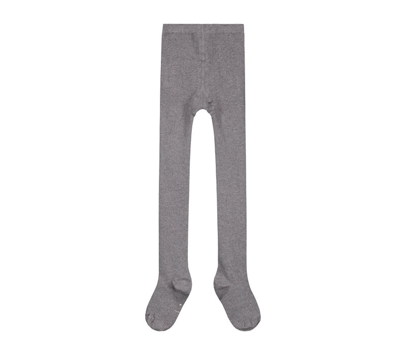 Gray Label Ribbed Tights Grey Melange