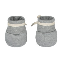 Gray Label Baby Ribbed Booties Grey