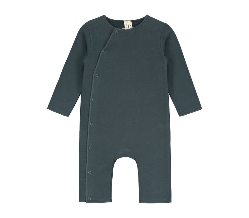 Gray Label Baby Suit with Snaps Blue Grey