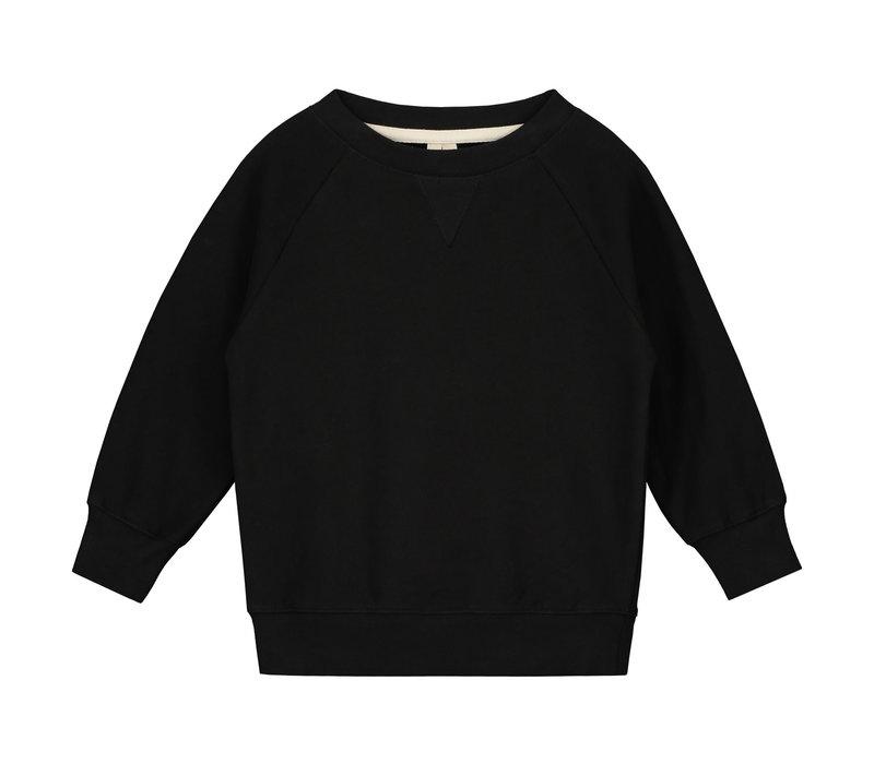 Gray Label Crewneck Sweater Nearly Black