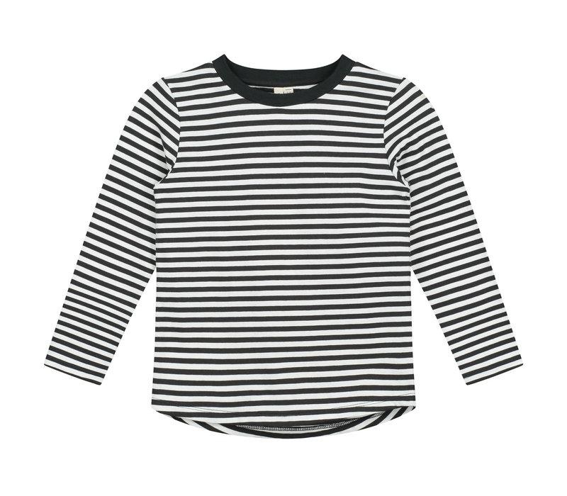 Gray Label Longsleeve Tee Nearly Black / Stripe