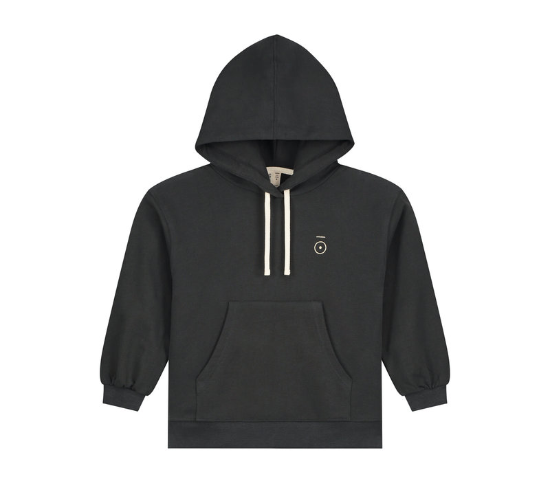 Gray Label Hoodie Nearly Black