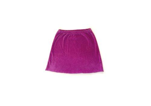 Long Live the Queen LONGLIVETHEQUEEN Velvet Skirt Purple