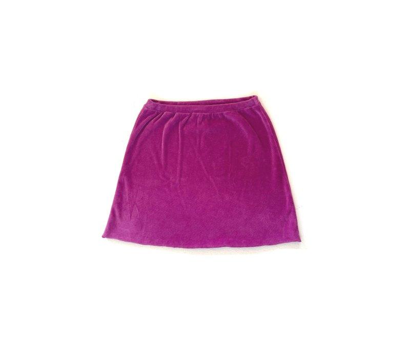 LONGLIVETHEQUEEN Velvet Skirt Purple