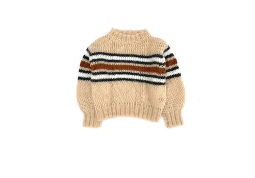 Long Live the Queen LONGLIVETHEQUEEN Striped Sweater Natural stripe