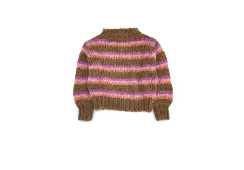 Long Live the Queen LONGLIVETHEQUEEN Striped Sweater Brown stripe