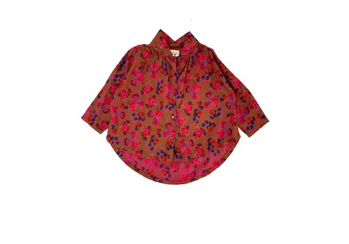 Long Live the Queen LONGLIVETHEQUEEN Collar Blouse Bright Pink Flower