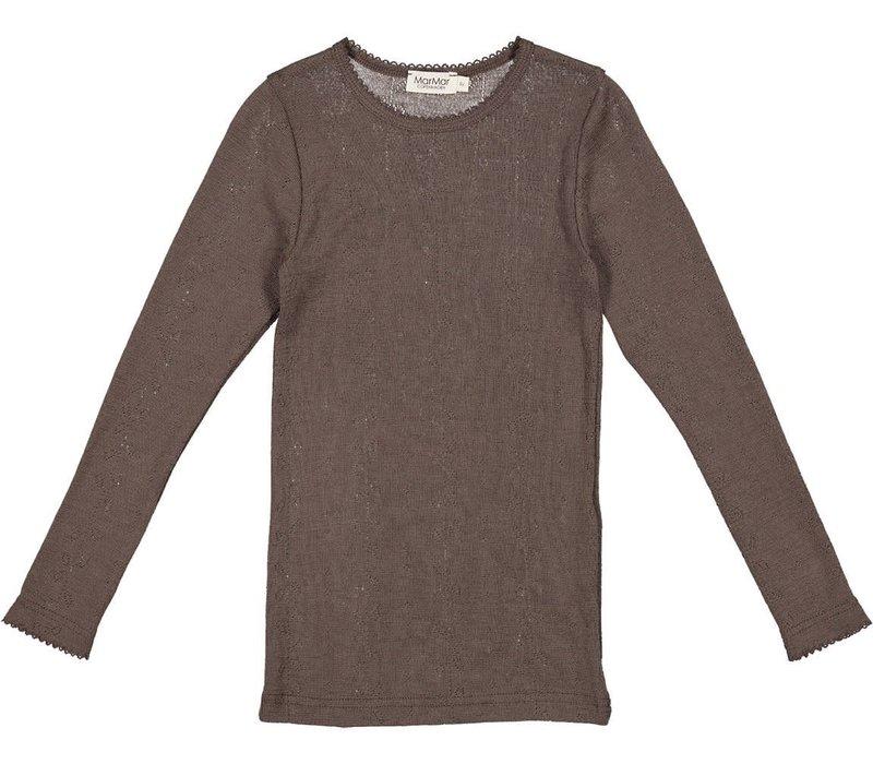 MarMar Copenhagen Tamra Shirt Wool Pointelle Terre