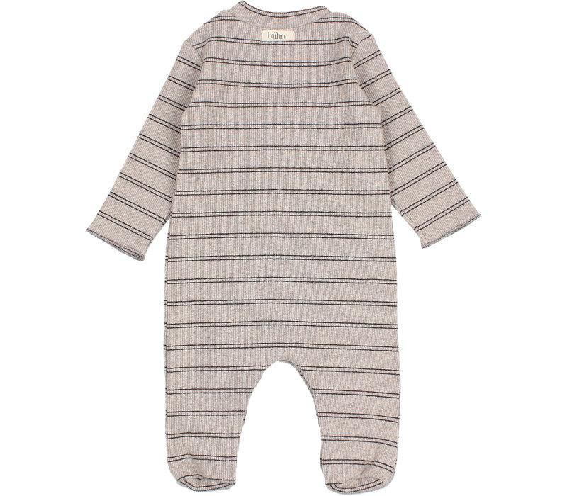 Buho Baby Soft Rib Jumpsuit Stone