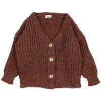 Buho Ribbed Knit Cardigan Henna