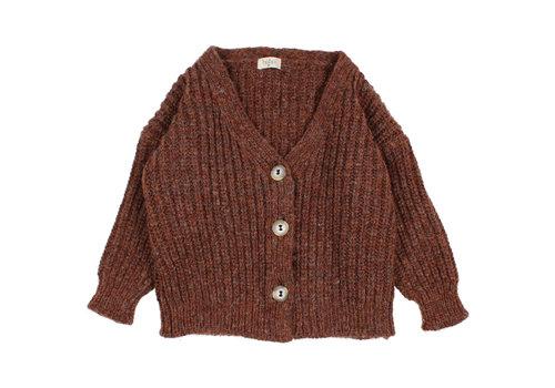BUHO Buho Ribbed Knit Cardigan Henna