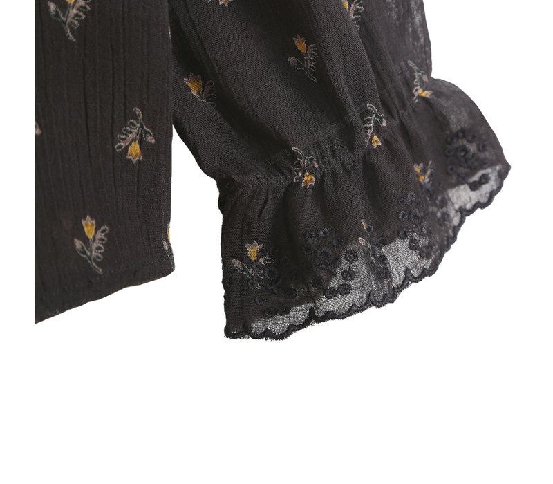 Emile et Ida Daffodil Crepe Cotton Voille Blouse